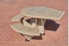 "38"" ADA Concrete Round Picnic Table with Bolted Bench Frame, 860 Lbs"