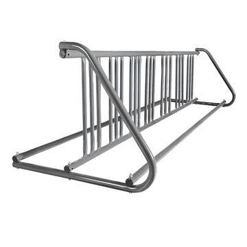 14 Space 8 Ft. W Style Grid Bike Rack - Galvanized