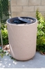 31 Gallon Ash and Trash Concrete Receptacle with Ash n' Trash Top, 420 Lbs.