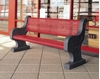 """78"""" Concrete Bench with Powder Coated Seat, 445 Lbs."""