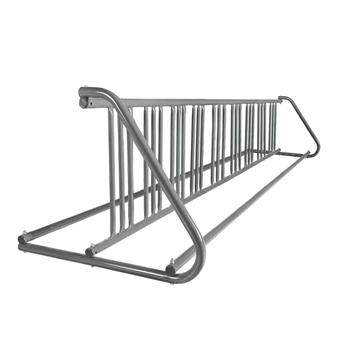 18 Space 10 Ft. W Style Grid Bike Rack - Galvanized