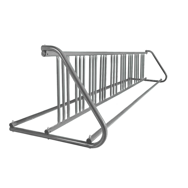 18 Space 10 Ft. W Style Grid Bike Rack - Galvanized