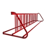 18 Space 10 Ft. W Style Grid Bike Rack - Red