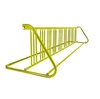 18 Space 10 Ft. W Style Grid Bike Rack - Yellow