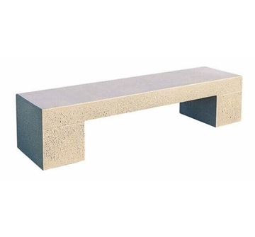 "72"" Smooth Tech Concrete Backless Bench, 920 Lbs"