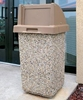 30 Gallon Concrete Trash Receptacle with Self Closing Top, 280 Lbs.