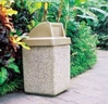 45 Gallon Concrete Trash Receptacle with Push Door Top, 870 Lbs.