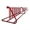 28 Space 16 Ft. W Style Grid Bike Rack - Red