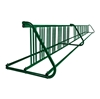 28 Space 16 Ft. W Style Grid Bike Rack - Forest Green