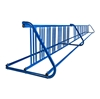 28 Space 16 Ft. W Style Grid Bike Rack - Royal Blue