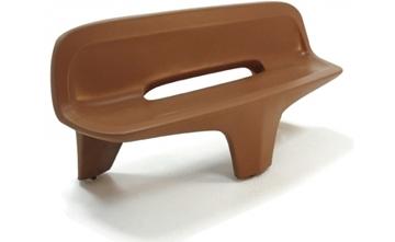 "77"" Tripod Style Concrete Contoured Bench, 840 Lbs."
