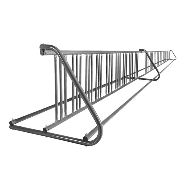 36 Space 20 Ft. W Style Grid Bike Rack - Galvanized