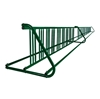 36 Space 20 Ft. W Style Grid Bike Rack - Forest Green
