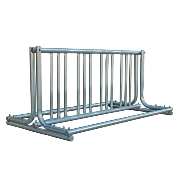 8 Space 5 Ft. J Style Grid Bike Rack - Galvanized