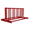 8 Space 5 Ft. J Style Grid Bike Rack - Red
