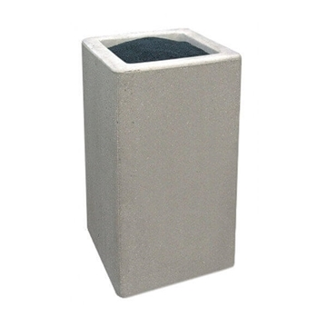 Quick Ship Concrete Square Cigarette Snuffer, 235 Lbs.
