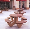 "38"" Round Concrete Picnic Table with Bolted Concrete Frame, 1100 Lbs."