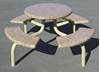 "66"" Round Concrete Picnic Table with Steel Frame, 800 Lbs."