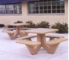 """36"""" Square Concrete Picnic Table with Bolted Frame, 1100 Lbs."""