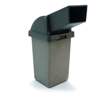 30 Gallon Drive Thru Concrete Trash Receptacle, 280 Lbs.