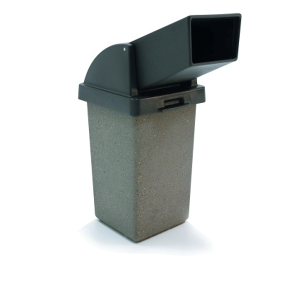 30 Gallon Drive Thru Concrete Trash Receptacle, 280 Lbs.