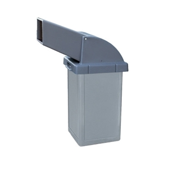 24 Gallon Plastic Trash Receptacle with Drive-Thru Top, 61 Lbs.