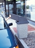 24 Gallon Plastic Trash Receptacle with Drive-Thru Top, 61 Lbs.