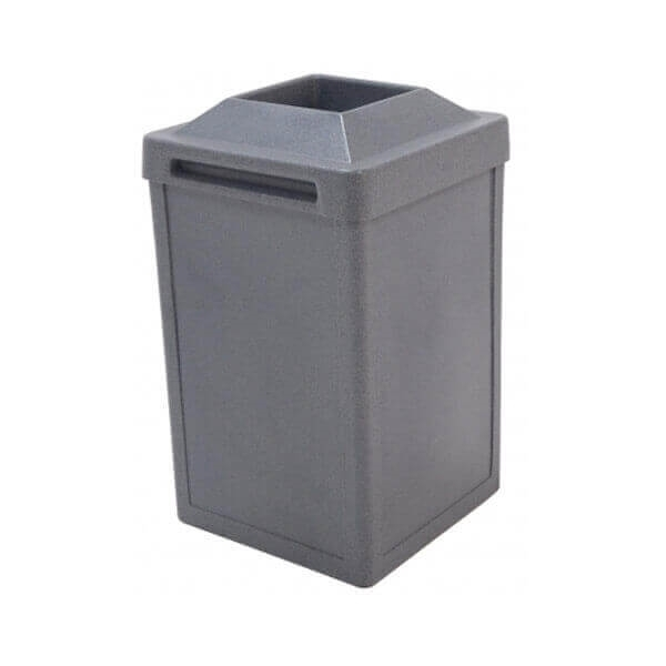 24 Gallon Plastic Trash Receptacle with Pitch-In Top, 45 Lbs.