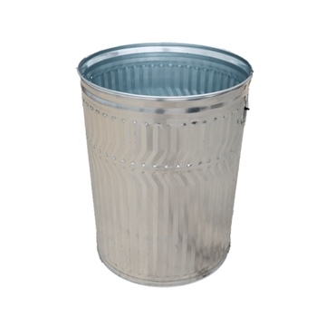 20 Gallon Galvanized Steel Trash Can