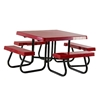 48 inch Square Fiberglass Top Picnic Tables