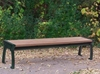 6 Ft. Recycled Plastic Backless Bench with Steel Frame, 105 lbs.