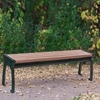 8 Ft. Recycled Plastic Backless Bench with Cast Aluminum Frame, 132 lbs.