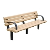 8 Ft. Recycled Bench with Powder Coated Steel Frame, 290 lbs.