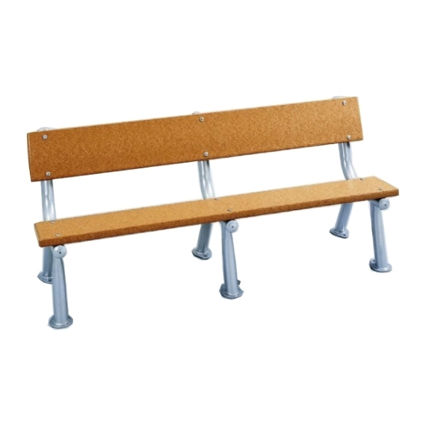 6 Ft. Recycled Plastic Bench with Armless Steel Frame, 151 Lbs.