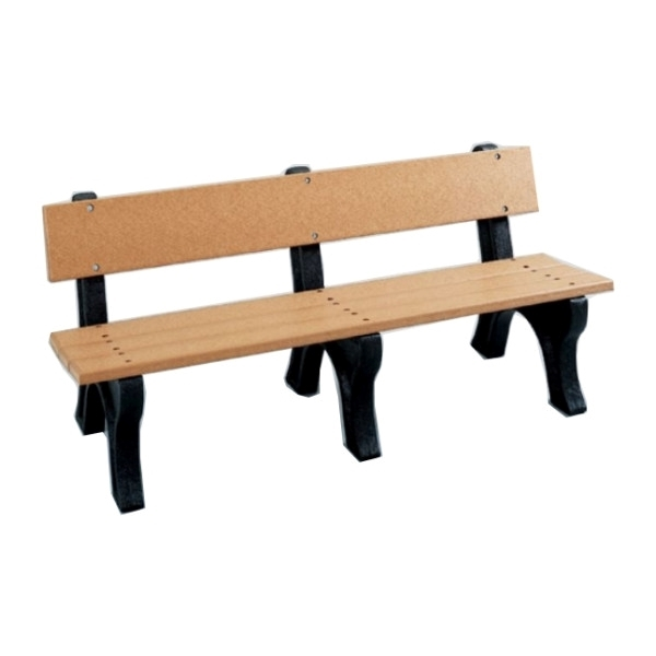 6 ft. Recycled Plastic Bench with back, 177 Lbs.