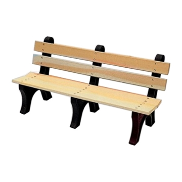 8 Ft. Slatted Recycled Plastic Bench with Back, 244 Lbs.