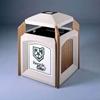 60 Gallon Jumbo Recycled Plastic Trash Can, 172 Lbs.
