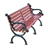Victorian White Oak Park Bench with Cast Aluminum Frame - 4 Ft., 5 Ft., or 7 Ft.