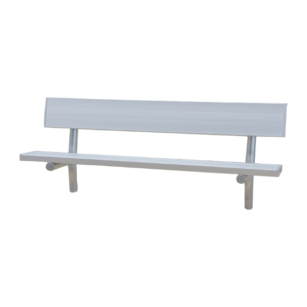 Stationary Aluminum Bench with Galvanized Steel Frame - 6 or 8 Ft.