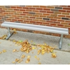15 Ft. Backless Aluminum Sports Bench with Galvanized Steel Frame, 69 Lbs.