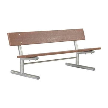 Recycled Plastic Park Bench with Galvanized Steel Frame - 6 or 8 Ft.