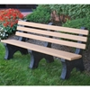 Recycled Plastic Slatted Garden Bench - 6 or 8 Ft.