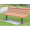 Recycled Plastic Contoured Bench with Back & Steel Frame - 4 Ft., 6 Ft., Or 8 Ft.