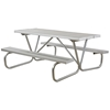 Aluminum Picnic Table 6 Ft. Rectangular with Bolted 1 5/8 In. Galvanized Tube, Portable