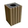 22 Gallon Economizer Recycled Plastic Square Trash Can