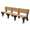 Deluxe Recycled Plastic Bench with Back
