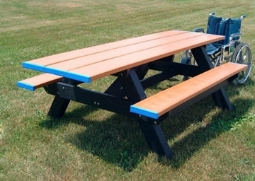 Dual End Access ADA Recycled Plastic Picnic Table