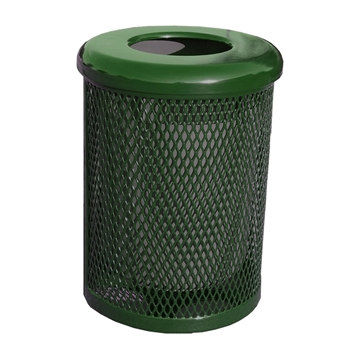 Elite Series 32 Gallon Thermoplastic Polyethylene Coated Trash Can with Top and Liner