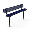 Elite Series 6 Ft. Thermoplastic Polyethylene Coated Bench with Back