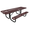 Elite Series 8 ft. Thermoplastic Polyethylene Coated Rectangular ADA Compliant Picnic Table with Extended Top